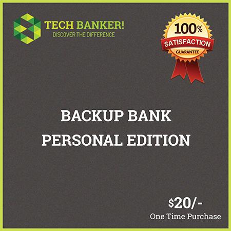 Backup Bank Personal Edition
